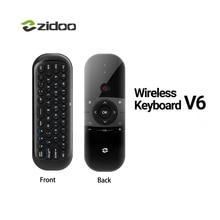 ZIDOO V6 2.4 GHz Lidar Com Air Mouse Teclado Sem Fio com Controle Remoto IR para todos CAIXA DE TV Para Zidoo ZIDOO X9S H6 X10 X8 X7 PRO