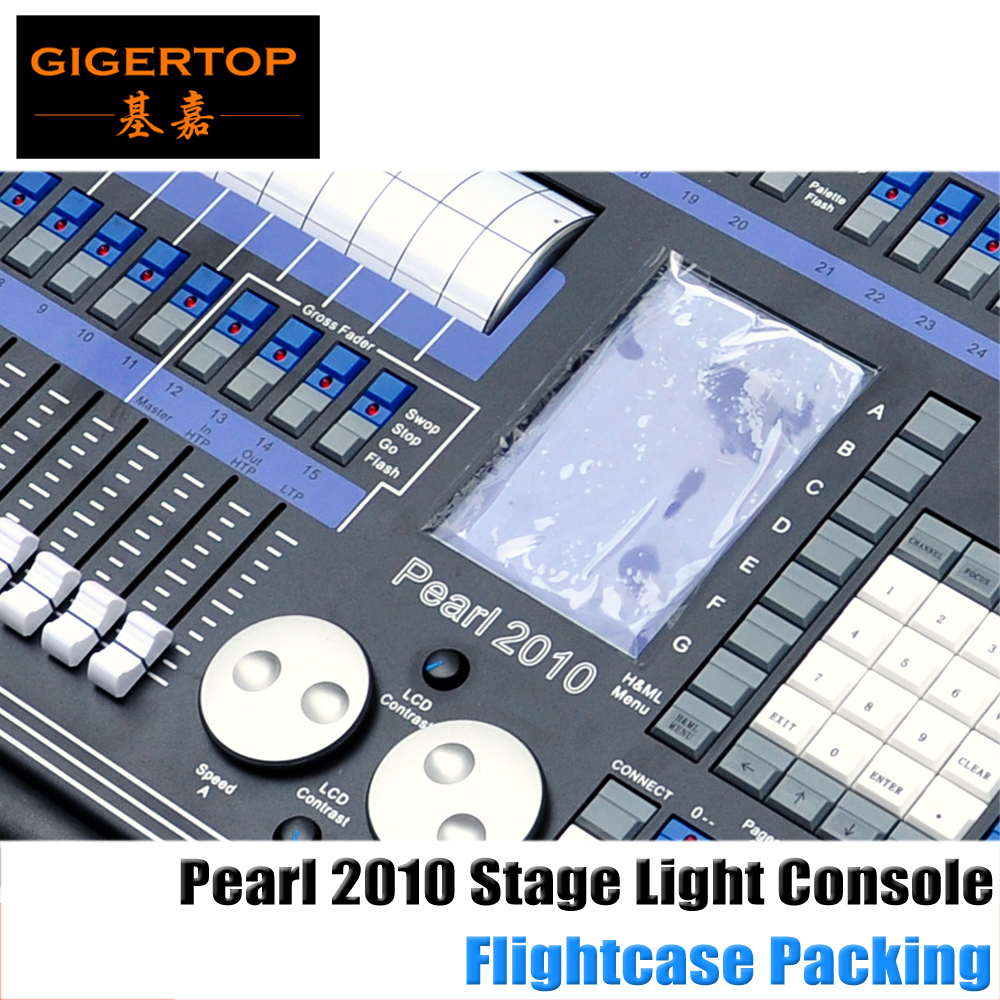 Flight Case Packing Pearl 2010 and 2048 channel dmx 512 controller for stage lighting 512 dmx console 4 DMX512 Output Connector