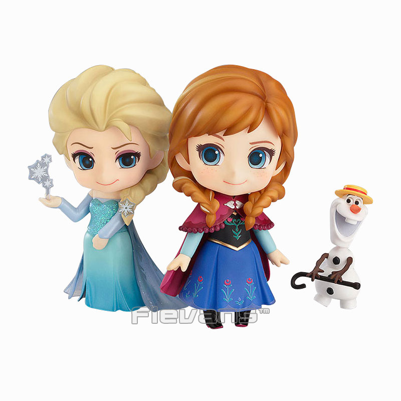 Princess Anna 550# Queen Elsa 475# Nendoroid PVC Action Figure Collection Model Kids Toy Doll 10cm