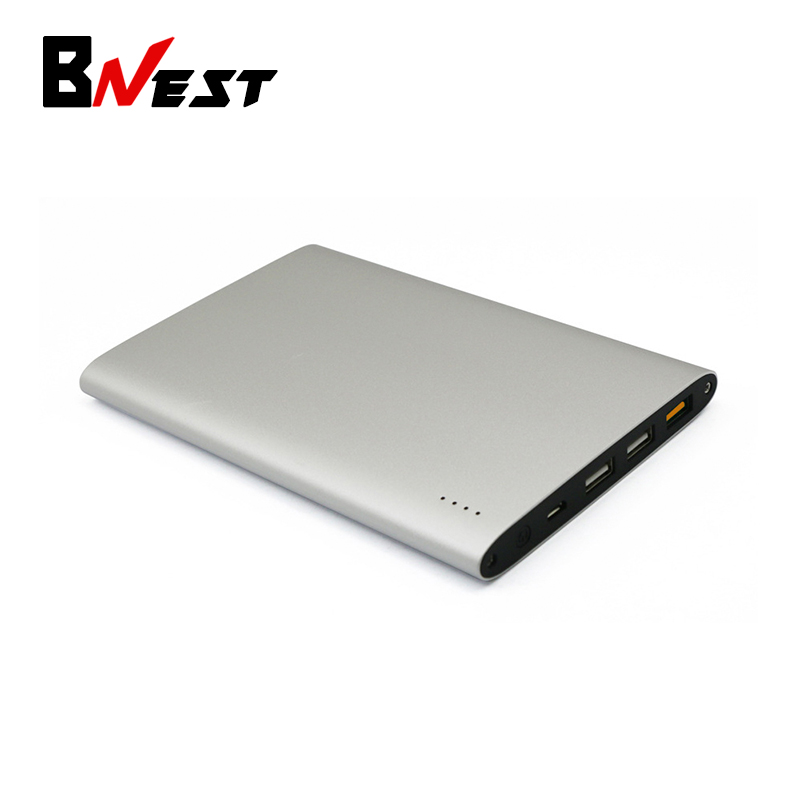 BNEST QC 3.0 Portable Power Bank with 3-Port, 20000mAh High Capacity and Aluminum Case for HTC 10, iphone 5s, iphone 7,LG,Huawei