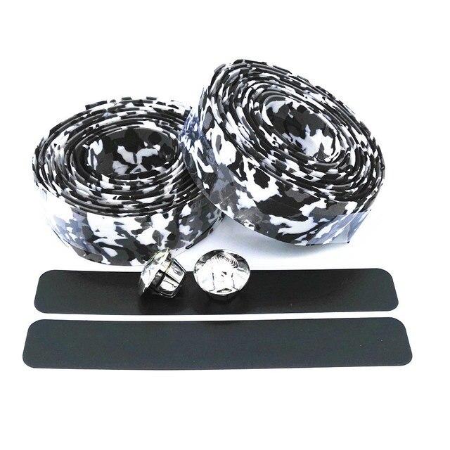 Bike handlebar Belt Sweat Absorbent Non Slip Colorful Cycling Handle Belt Bike Bicycle Cork Handlebar Tape Wrap +2 Bar HC0103 3