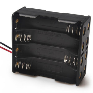Image 5 - 1PCS 8 x AAA 12V Battery Holder Case Double Side Spring Battery Holder With Wire Lead Back By Back Plastic Battery Box AAA
