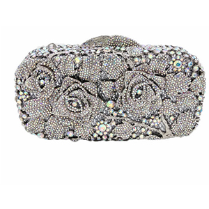 New Design gold Luxury silver Crystal Women Dinner Banquet Evening Bags Ladies diamond Wedding Day Clutches Party Purses new women clutches crystal diamond buckle evening clutch bags ladies day clutches purses banquet bag