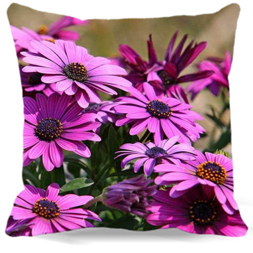 Cotton Polyester Pillow Case Home car sofa Use 45cm*45cm Vintage Decorative Cushion cover Rose red Chrysanthemum Pattern 9 style