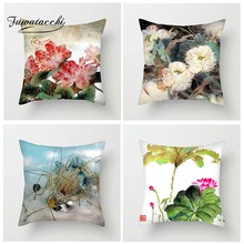 Fuwatacchi Chinese Style Birds Flowers Cushion Covers Nature Views Pillow Covers for Home Chair Sofa Decor Flowers Pillowcases цены