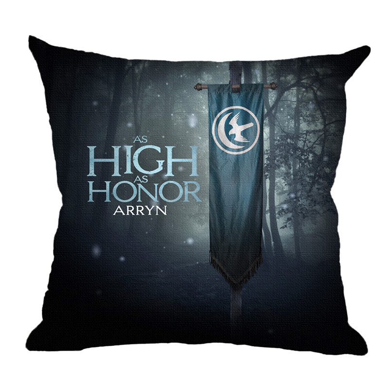 The New Western Style High Quality Cotton Linen Fundas Home Decor Sofa Throw Pillow Fashion Cushion Black Printed Cojines