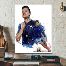 France Player Illustrated Florian Thauvin Canvas Painting Prints Wall Art Posters For Modern Living Room Home Decor Picture