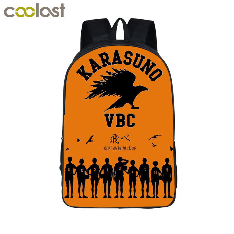цена Anime Haikyuu 3D Print Backpack Hinata Syouyou SchoolBag Kageyama Tobi Travel Bags For Young Men Women Daily Bag School Backpack