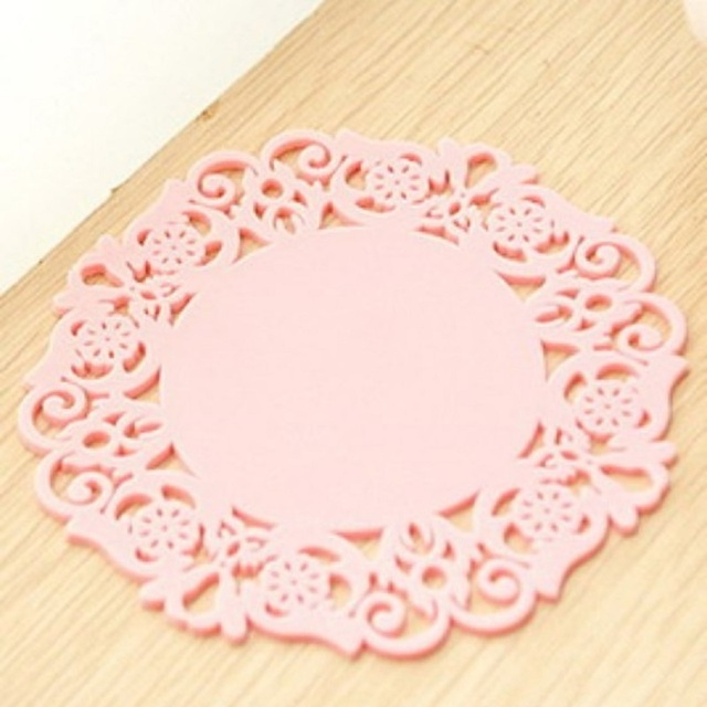 ECM#1 Creative hollow silicone flower-shaped non-slip anti-scalding insulated tea coaster mesa placemat table mat drink coasters