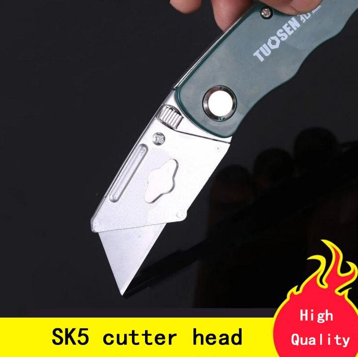 Ofis ve Okul Malzemeleri'ten Maket Bıçağı'de 1 takım Paslanmaz Çelik Katlama Maket Bıçağı Ahşap Açık Kamp w/Beş Bıçak dropshipping Kesme Aletleri Ofis Okul'da  Grup 1