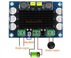 Image 2 - DC 12V 24V 100W TPA3116DA Mono Channel digital Power audio amplifier board