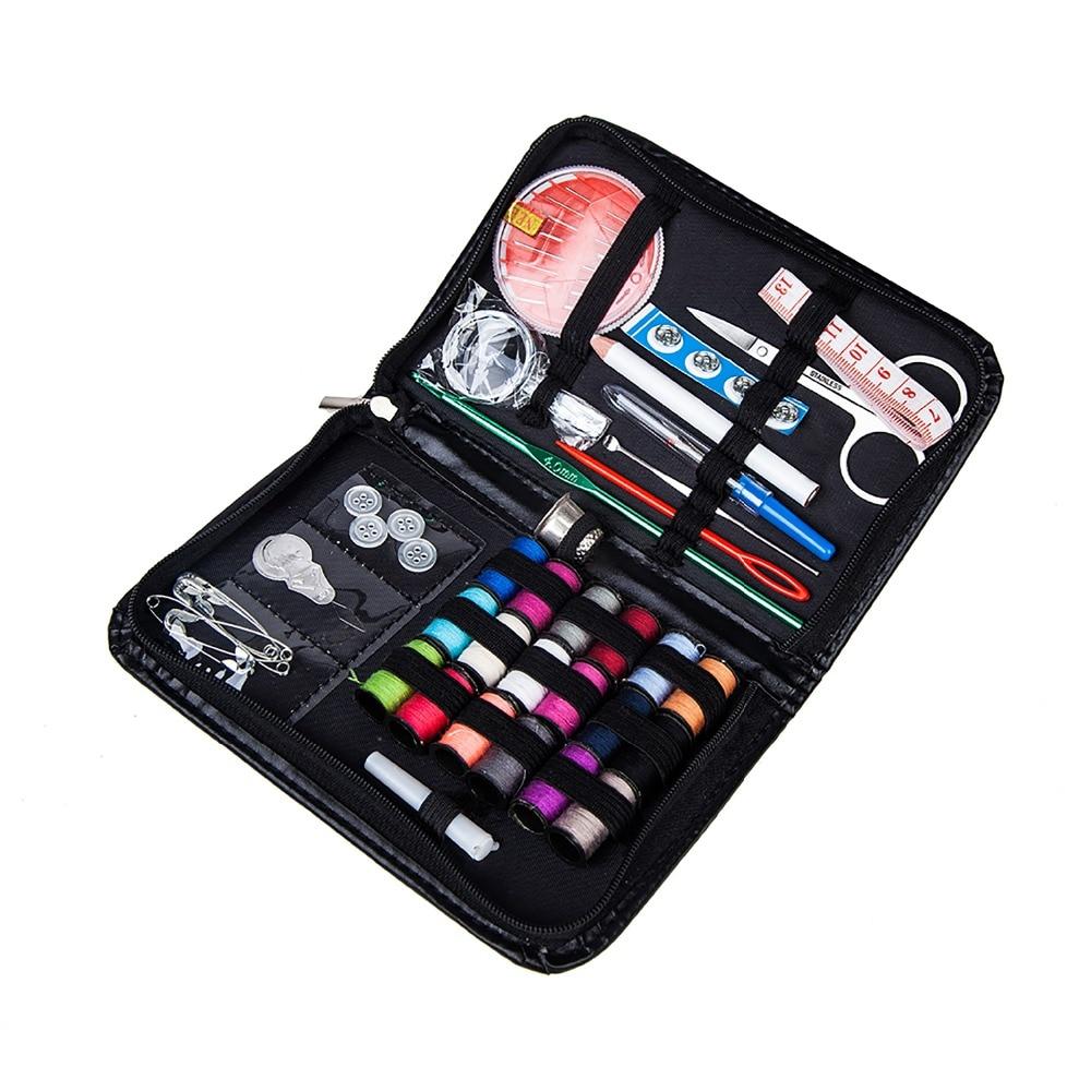 Pratical 40pcs/Set Synthetic Thread Needle Sewing Kit Bag Tools & Accessory Nylon Sewing Tool Set Crochet Hooks Kit Bag For Mom