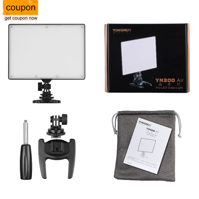 YONGNUO YN 300 YN300 YN-300 Air LED Camera Video Light 3200K-5500K for Canon for Nikon for Pentax for Olympas for Samsung DSLR yongnuo yn300 air 3200k 5500k yn 300 air pro led camera video light with np f550 battery and charger for canon nikon