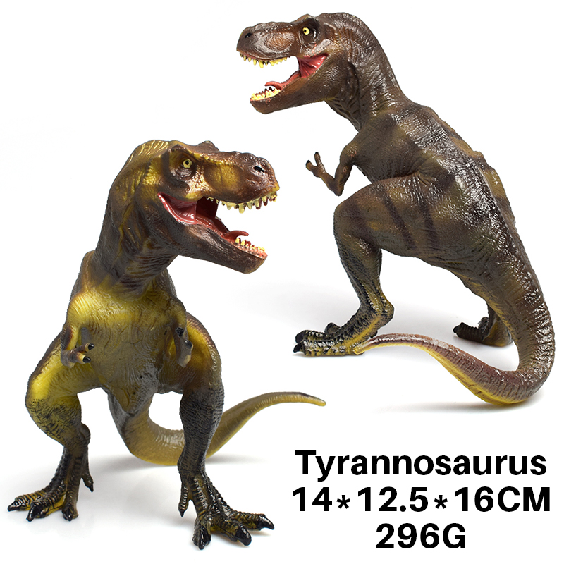 DODOELEPHANE Soft TPR Dinosaur Toy for Jurassic Action Figure Tyrannosaurus Dragon Dinosaur Animal Collection Model Toys For kid
