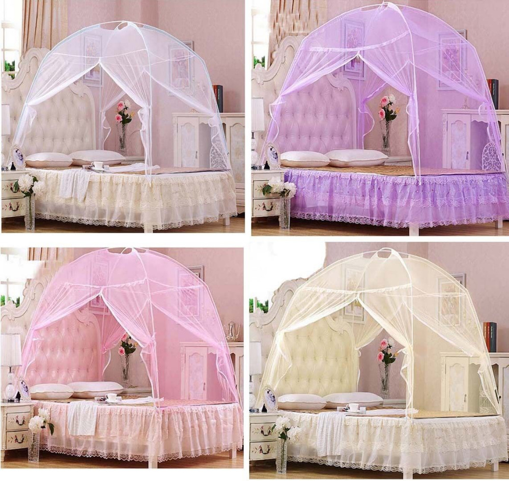 Hight QC Bed Canopy Mosquito Net Tent For Twin Queen Small King Bed Size-in Mosquito Net from Home u0026 Garden on Aliexpress.com | Alibaba Group & Hight QC Bed Canopy Mosquito Net Tent For Twin Queen Small King ...