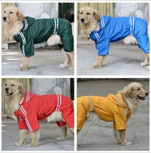 New Pet Dog Soild Rain Coat Waterproof Clothes Hoodie Jacket Jumpsuit Apparel Dog Clothes Raincoat For Small Medium Dogs 3XL-7XL