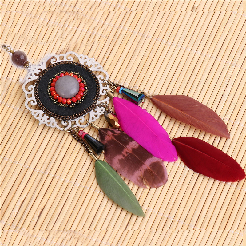 HTB1nIACb2NNTKJjSspfq6zXIFXaW - [Clearance] Women Vintage Bohemian Feather Earrings Filigree Colorful Feathers