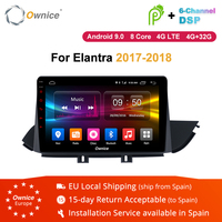 10.1 Inch Ownice K1 K2 K3 Android 8.1 Car Media Player Stereo Replacement for Hyundai Elantra 2017 2018 Video Radio 4G Carplay