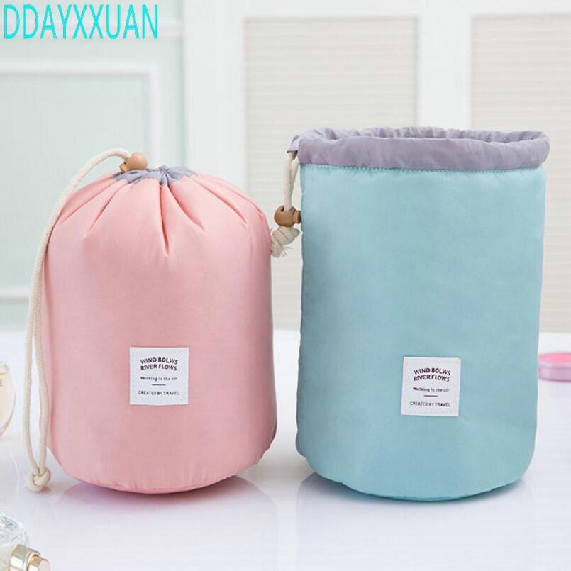 Fashion Barrel Shaped Travel Cosmetic Bag Make up Bag Drawstring Elegant Drum Wash Kit Bags Makeup Organizer Storage Bag 38mm cylinder barrel piston kit