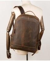 MAHEU мужской женский рюкзак из натуральной кожи рюкзак для ноутбука винтажный Crazy Horse коровья кожа школьная сумка большой емкости Рюкзаки