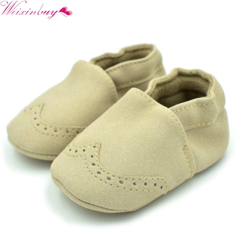 New Spring Fashion Baby Flock Leather Shoes Infants Baby Toddler Shoes Shallow Newborn Babies Shoes Sneakers First Walkers M1