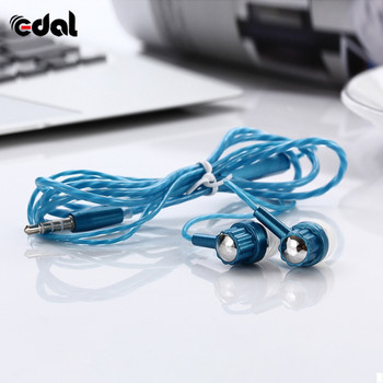 Universal In-Ear Headphone Transparent Stereo Earphone 3.5mm for Mobile Phone With Microphone Sport Headset