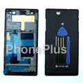 Front Housing+Battery Cover Frame Bezel Door Full Housing+tools Repair Part For Sony Xperia C3 D2533 S55T S55U
