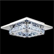 Роскошные LED K9 кристалл потолочный светильник для Li V ing номер 110-240 V блеск Lamparas TECHO балкон проход кристалл лампы Длина 210mm