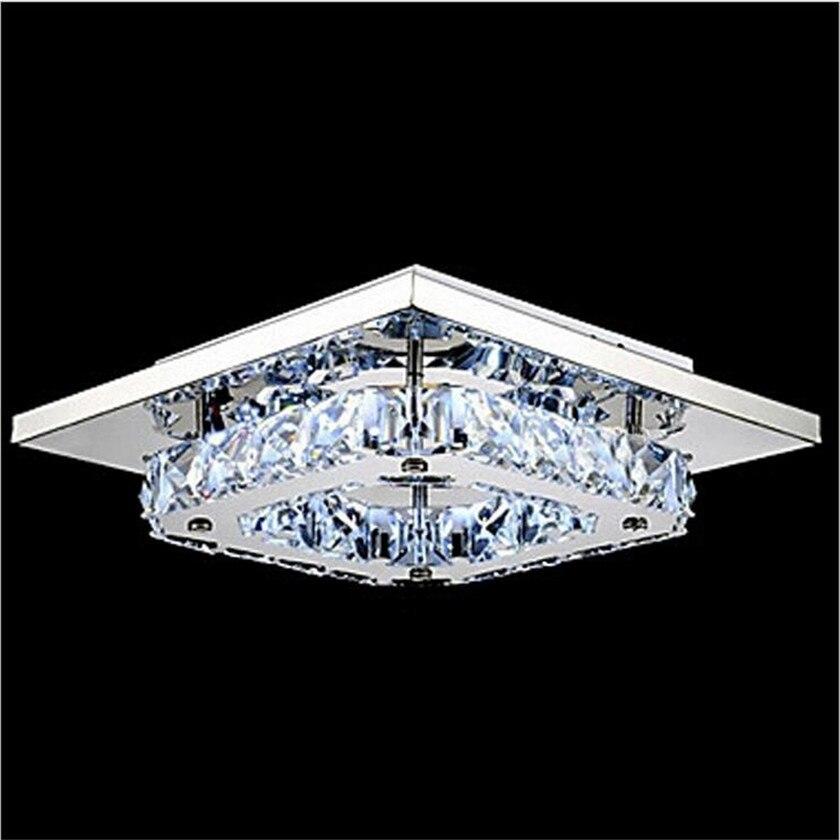 luxury led k9 crystal ceiling light for living room 110240v lustre lamparas techo balcony aisle crystal lamp length 210mm