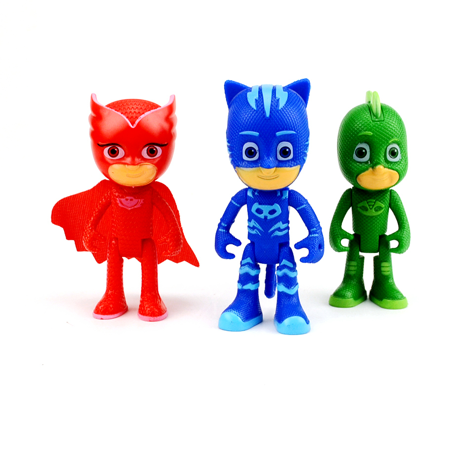 High Quality Anime pj Figure mask 7-8cm Character Catboy Owlette pjmasksed Action Figures Toys For kids Boys Girl Birthday Gift 12pcs set children kids toys gift mini figures toys little pet animal cat dog lps action figures
