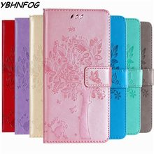 Leather Phone Case For Huawei P8 P9 Lite 2017 P7 P10 P20 P30 Lite Wallet Cover For Huawei Y3 Y5 Y6 2018 Y7 2019 Flip Stand Bags(China)