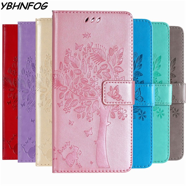 Leather Phone Case For Huawei P8 P9 Lite 2017 P7 P10 P20 P30 Lite Wallet Cover For Huawei Y3 Y5 Y6 2018 Y7 2019 Flip Stand Bags