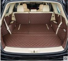 Bonnes tapis! ensemble complet tronc tapis pour Toyota Highlander 7 sièges 2017-2014 botte imperméable tapis pour Highlander 2015, Livraison gratuite