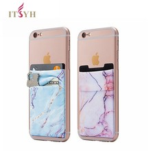 ITSYH Fashion ID Credit Card Holder Solid Mobile Phone Card Wallet Elastic Cellphone Pocket with Adhesive Sticker SZ19-003(China)