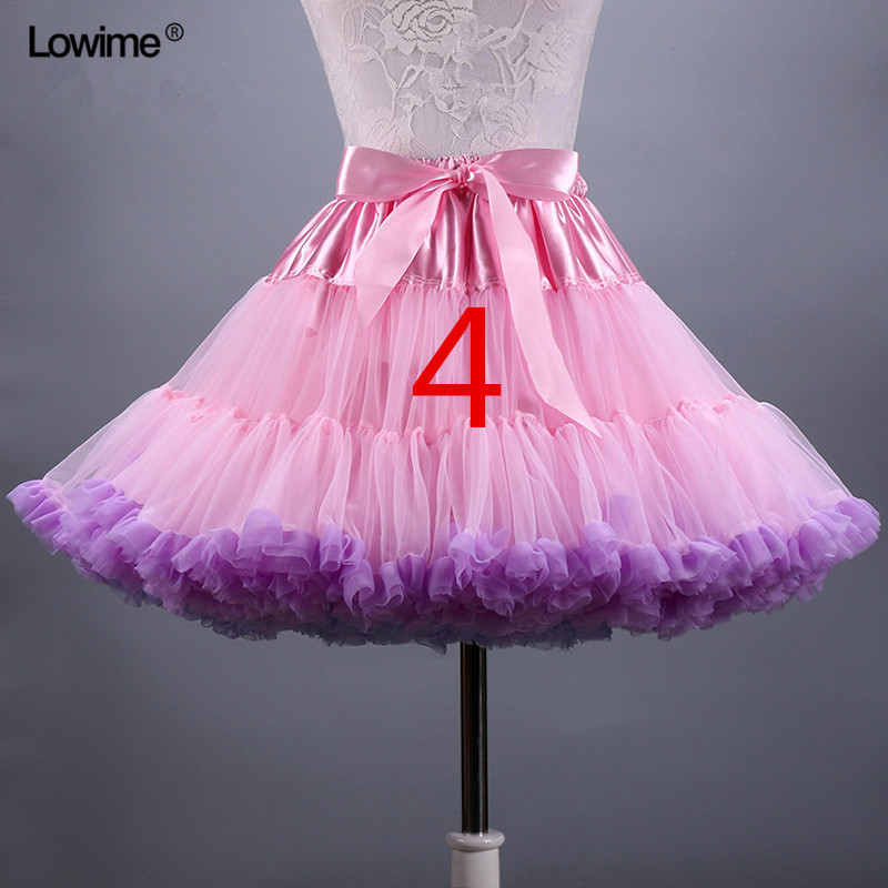 In Stock 2018 Hot Sale Multi Colored Short Petticoat Free Shipping Tulle Crinoline Underskirt Girl Wedding Accessories Wholesale