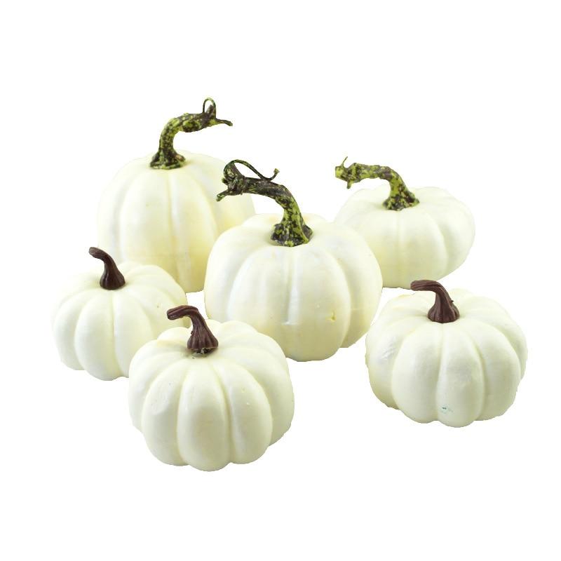 2aca1a4324e Decorative White Artificial Pumpkin For Halloween Autumn Fall Thanksgiving  Harvest Home Kitchen Decoration Gourds Maple leaves | The Divine Diva Shop