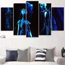 Top Sales Framed 5 Panels Picture Halloween series HD Canvas Print Painting Artwork Wall Art painting Wholesale HX-051