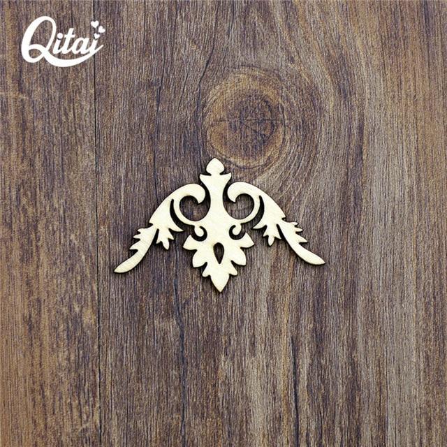 Us 5 86 40 Off Qitai 36 Pieces Lot Wooden Photo Corner Wooden Veneer Shape Scrapbooking Embellishment Wooden Veneer Photo Corner Wf072b In Figurines