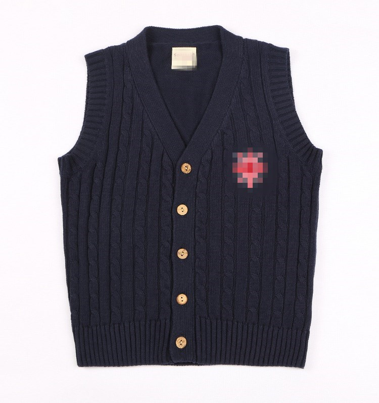 5 14Y New College Style Girls Boys Knitted Vest V neck Sleeveless Teenage Girl Sweaters Autumn