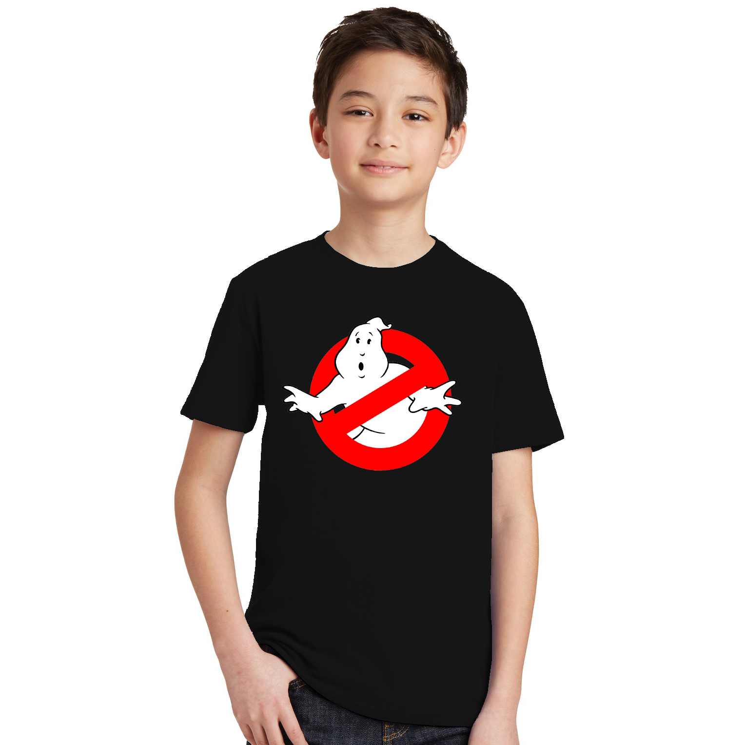 Boys Shirt Ghost Busters Orange Black Purple Green Yellow Pink Blue Red 3-10Y 8colors