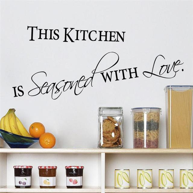 Love Kitchen Quotes Wall Stickers Decorations 8419. Diy Home Decals Vinyl  Art Room Mural Posters