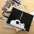 1 шт.  Сумка для документов с милым мультяшным котом на молнии  Студенческая сумка из ткани Оксфорд  школьные принадлежности  переносная папк...