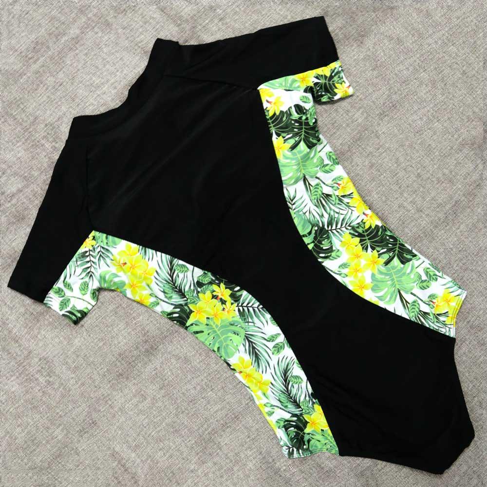 Short Sleeve Swimsuit One Piece Women Swimwear 2018 Floral Beach Wear  Bodysuit Maillot De Bain Femme Surfing Swim Monokini 558579eebc6