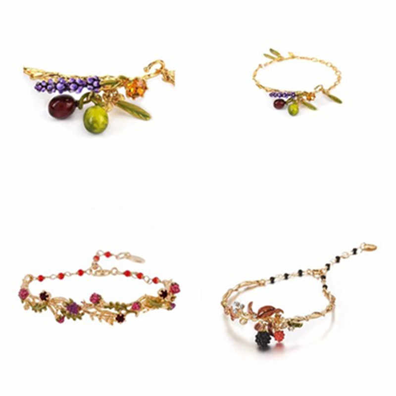 2019 Handmade Fashion Designer Amybaby Womens Enamel Glaze Flower Bracelet Luxury Jewelry For Party