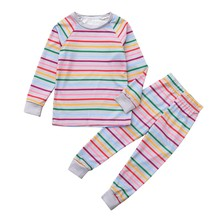 Soft Striped Pajamas for Boys and Girls