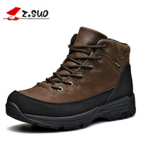 Autumn Winter Men Boots Genuine Leather Waterproof Outdoor Boots For Men High Quality Ultralight Winter Shoes Men Black Brown