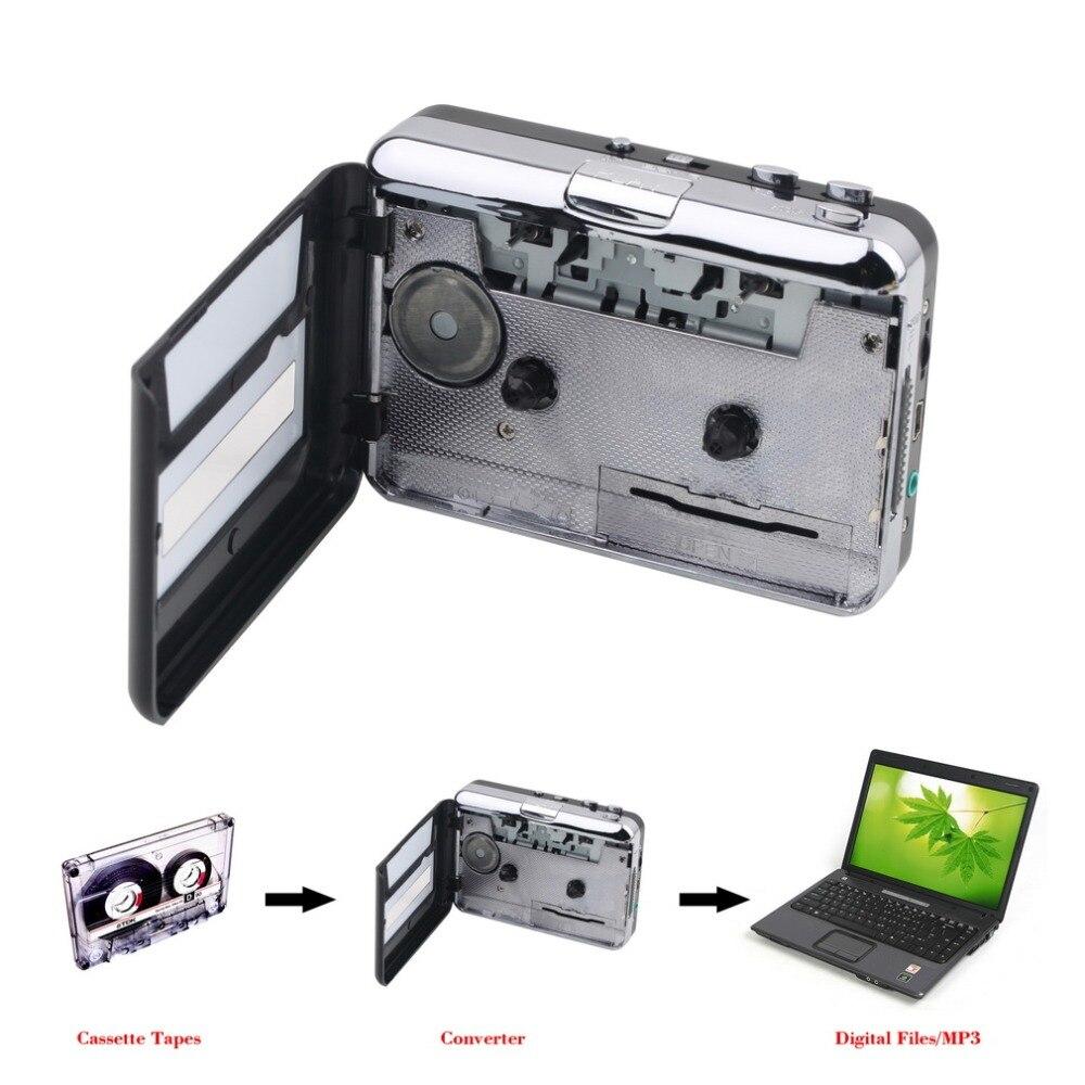 Mini USB2.0 Portable Tape to PC Super Cassette To MP3 Audio Music CD Digital Player Converter Capture Recorder +Headphone