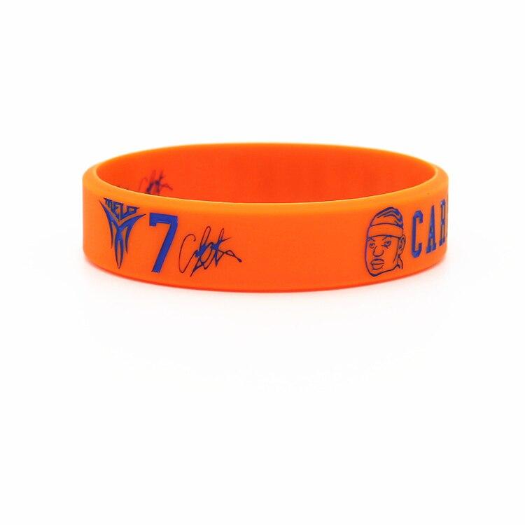 1pcs new arrival basketball sports energy bracelet rubber power wristband super star Head version balance bangle for anthony
