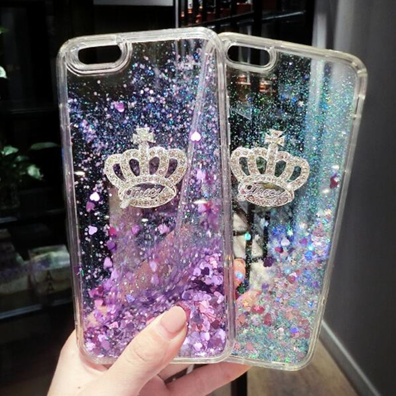 For Iphone 8 7 6 6s Plus Xs Max Dynamic Liquid Glitter Sand Soft Tpu Silicone Phone Case For Samsung S8 S9 Plus 6 Edge S7 Edge Rhinestone Cases Cellphones & Telecommunications