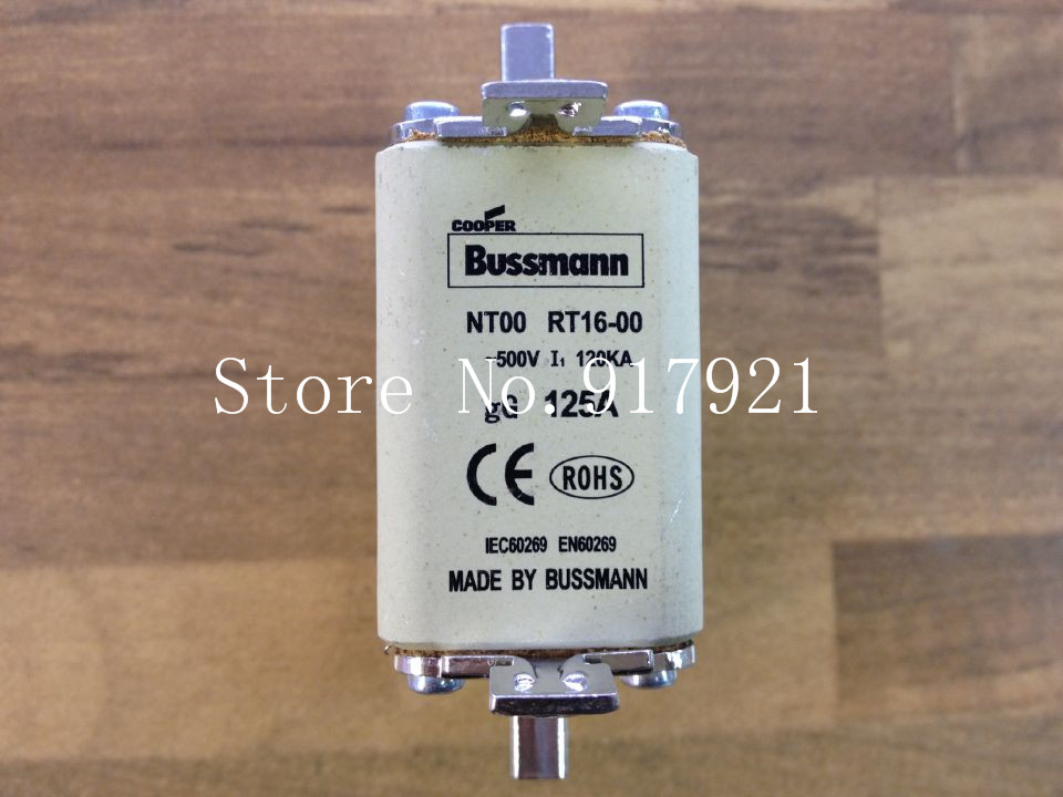[ZOB] The United States Bussmann NT00 RT16-00 125A 500V fuse fuse original authentic  --3pcs/lot [zob] the united states litteifuse netlon nln45 fuse 250v genuine original 3pcs lot